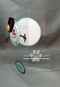 see through card with a snowman