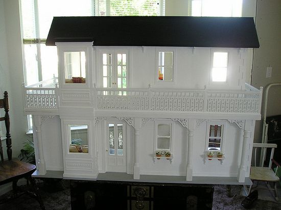 handmade wood barbie doll house by agardenofroses, via Flickr