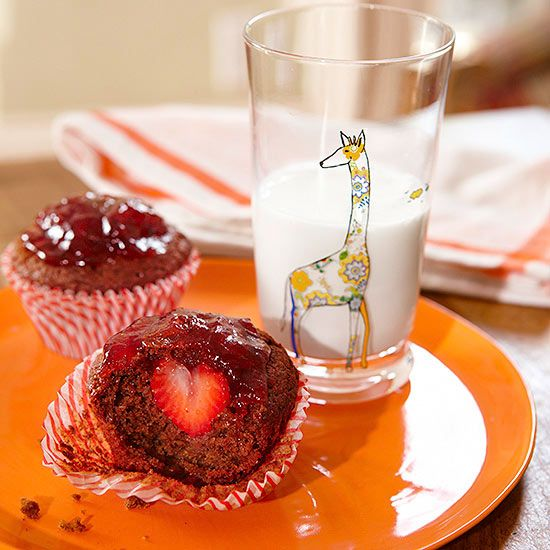 Rosie Pope shares a family #breakfast fave—Strawberry-Surprise Muffins!