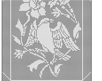 523 Footprints in the sand filet crochet doily mat afghan   Etsy