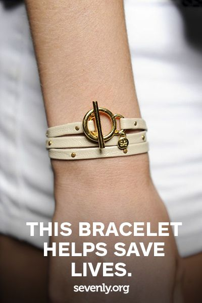 Believe it or not, this bracelet helps save lives! Jewelry that GIVES BACK ? www.sevenly.org/...