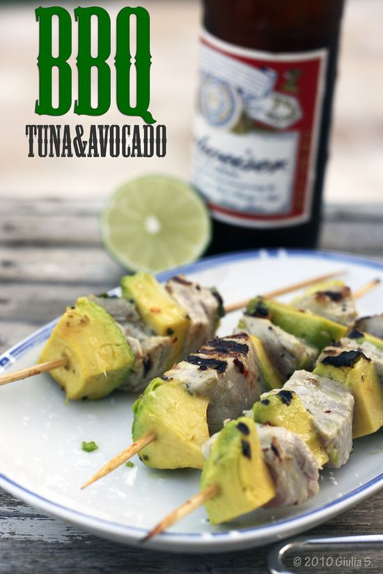 Grilled Tuna and Avocado Skewers