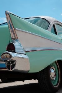 Old cars become antiques when they are treasured by the owner and others alike.