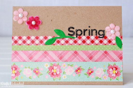 Washi tape handmade card