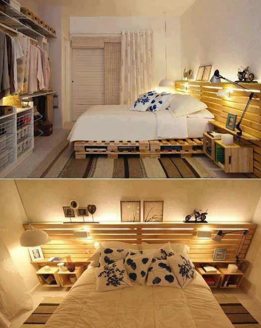 Room Made from Pallet Boards