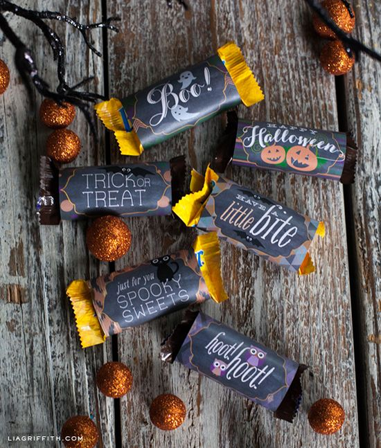 Printable Halloween Candy Wrappers