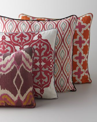 Multicolored Patterned #Pillows at #Horchow.