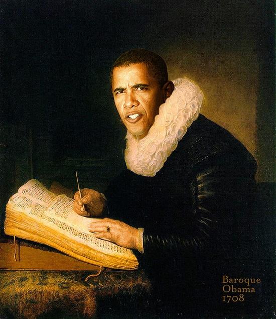 Baroque Obama...ha ha ha too funny!