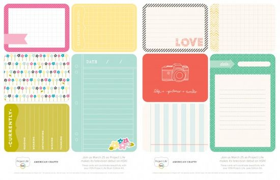 Free Project Life 'Blush & Jade' download from Becky Higgins