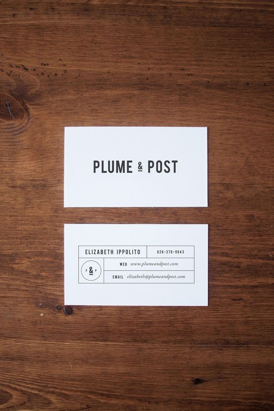 Plume & Post Branding and business card by A Pair of Pears