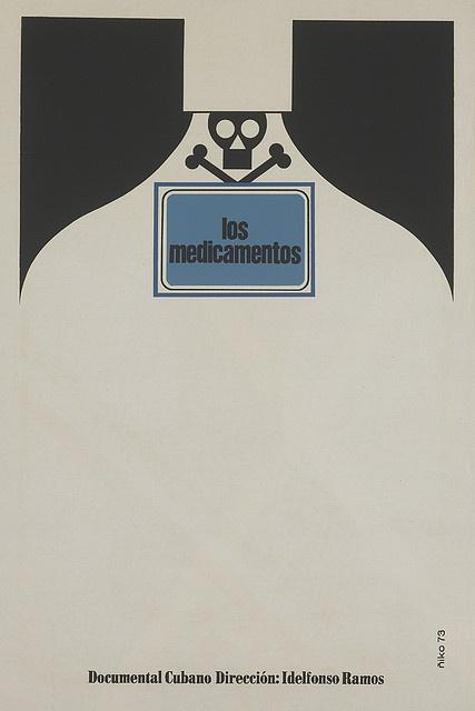 Cuban posters - Los Medicamentos  Artist: Niko, 1973