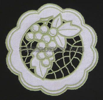 Grape cutwork lace d