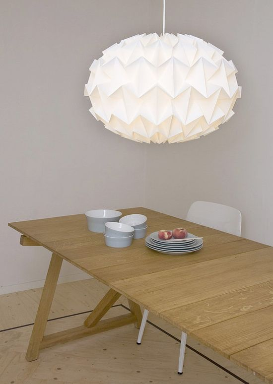love these origami lampshades.