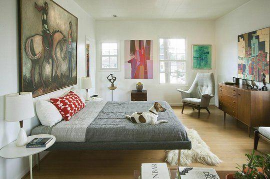 beautiful bedroom + art