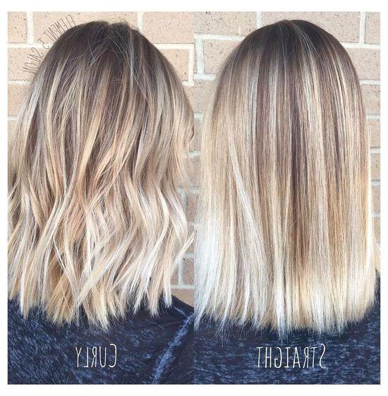 Blonde glatte haare schulterlange Schulterlange Haarschnitte
