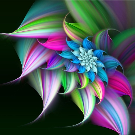 my 3d art 3d pastel rainbow flower