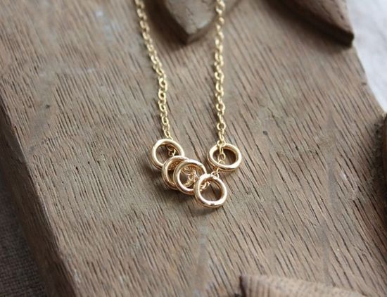 Gorgeous multi-ring necklace