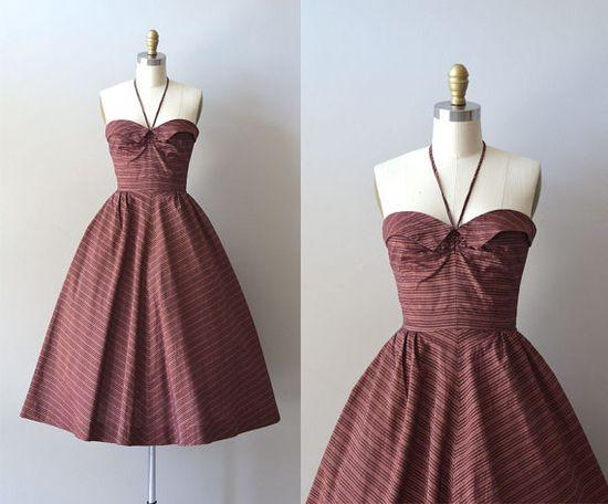 vintage 50's halter dress from Dear Golden