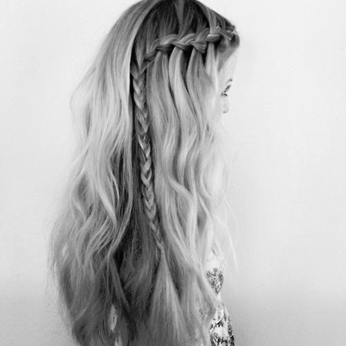 waterfall with braid