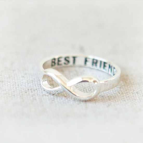 Best Friends Infinity Ring in silver. $17.00, via Etsy. Maid of Honor gift