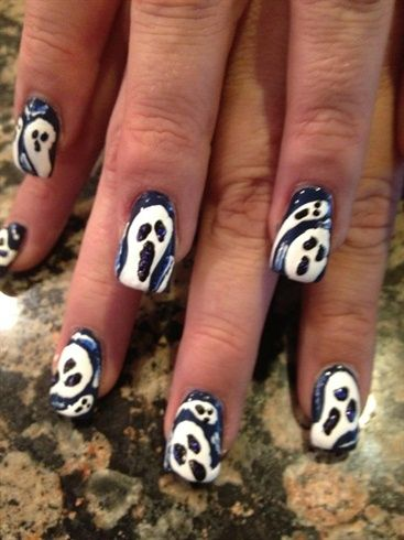 Scream Ghosts - Nail Art Gallery by NAILS Magazine