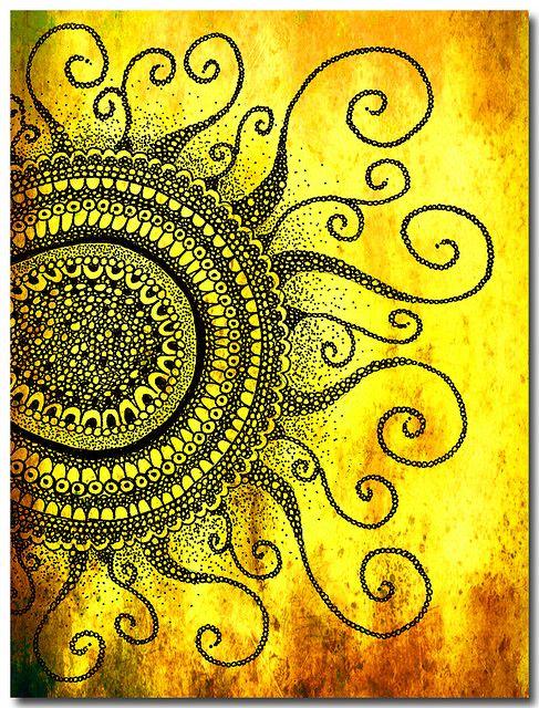zentangle sun