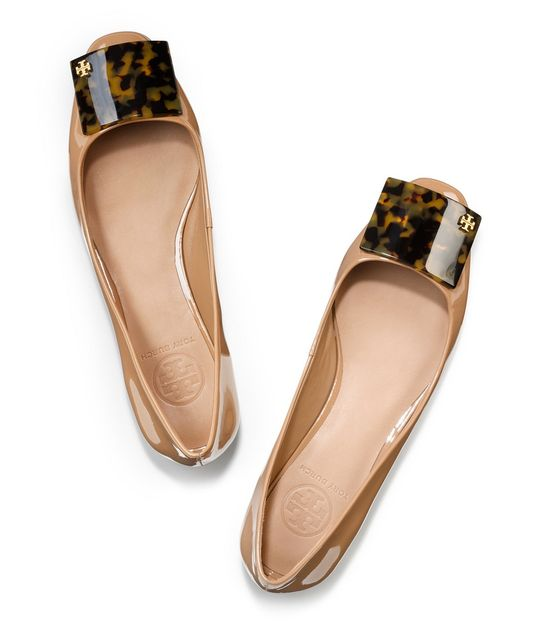 Tory Burch flats, #tortoise love!