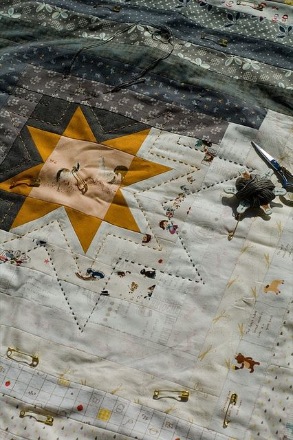 grey, white and a yellow star