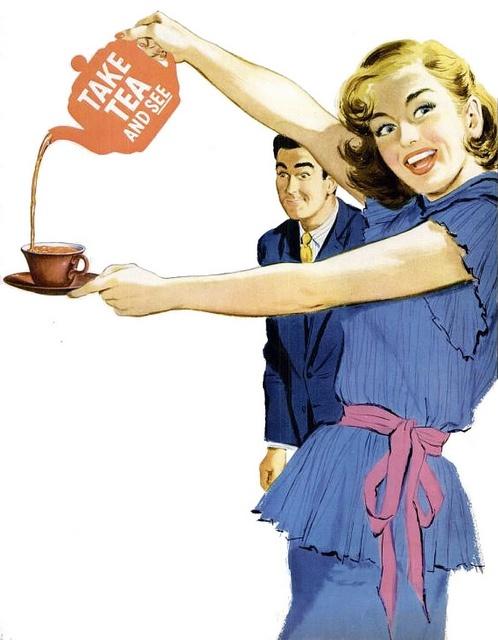 #1950s #food #tea #ad