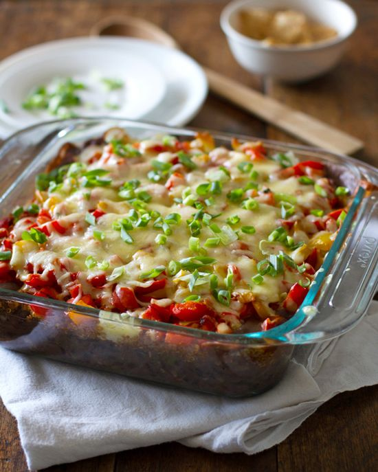 Quinoa Black Bean Casserole - a flavor explosion where the quinoa can be replaced with ground turkey, if desired