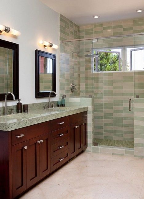 22 Eclectic Ideas Of Bathroom Wall Decor: Bathroom Decor Ideas: Eclectic Bathroom With Green Wall