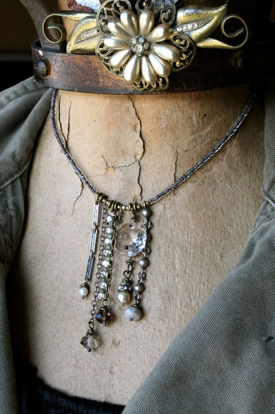 My Favorite Dangles Necklace by crdesigngallery on Etsy, $58.00