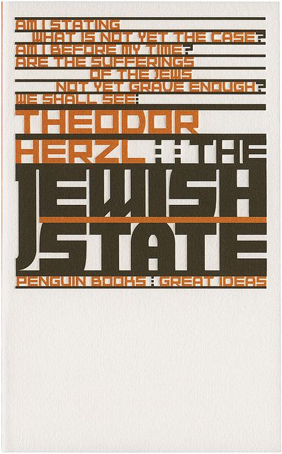 The Jewish State. Book cover design by Phil Baines. Penguin Books, Great Ideas.