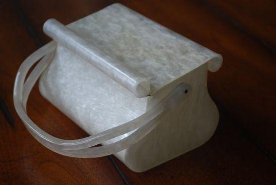 Vintage lucite purse. Love it!