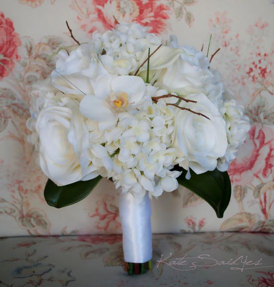 Orchid Wedding Bouquet  Orchid Rose Calla Lily and by @Kate Said Yes (Kate), www.katesaidyes.e...