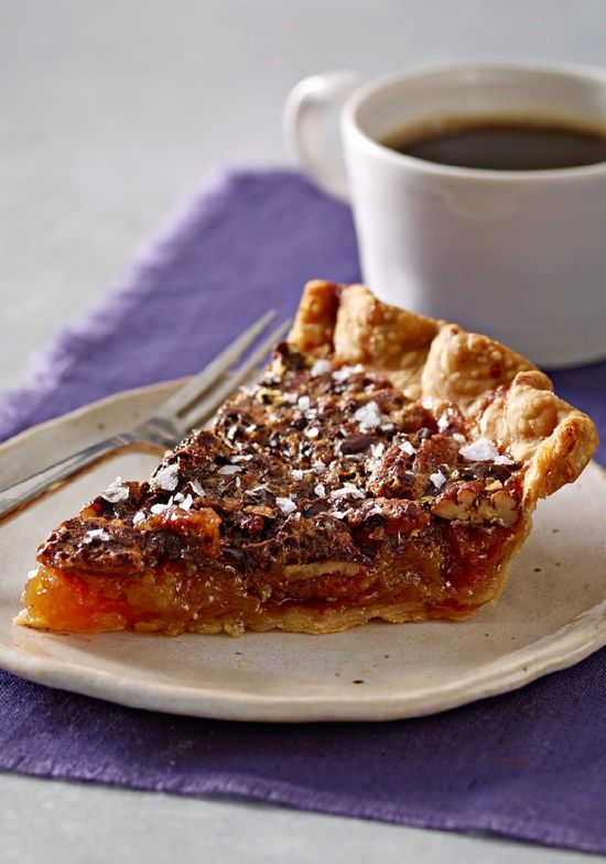 Salted-Chocolate Pecan Pie – Sea salt brings a surprise to this chocolate-studded pecan pie. It's the best of everything a dessert should be in one pie shell.