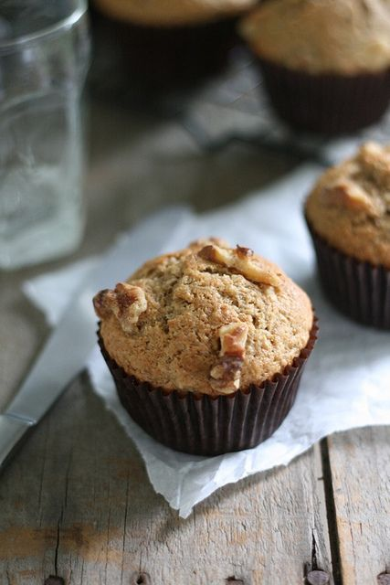 Whole Wheat Brown Butter Banana Muffins