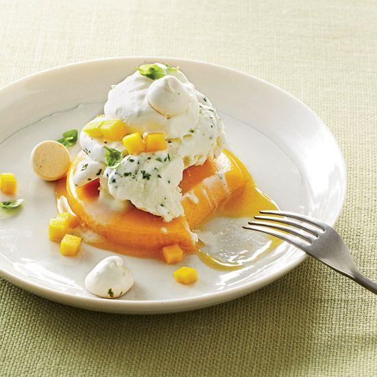 Mango-Basil Vacherin // More Beautiful Desserts: www.foodandwine.c... #foodandwine