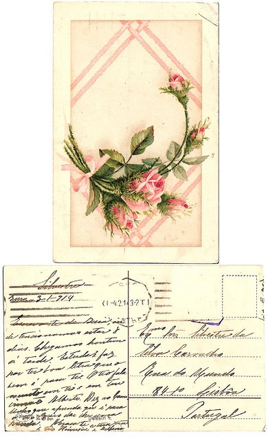 Vintage postcard, 1914 - LOVELY and aged