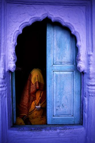 Purple and blue - Rajasthan, India