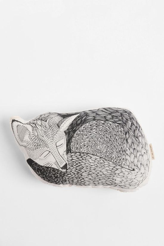 The Rise and Fall Sleeping Fox Pillow  urban outfitters
