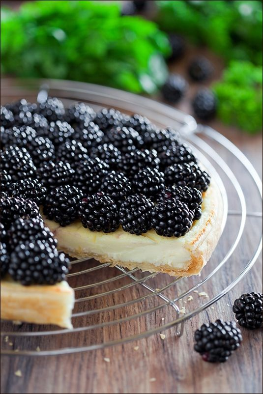 blackberry cream cheese tart