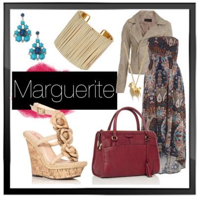 Marguerite wedge sandal #shoes