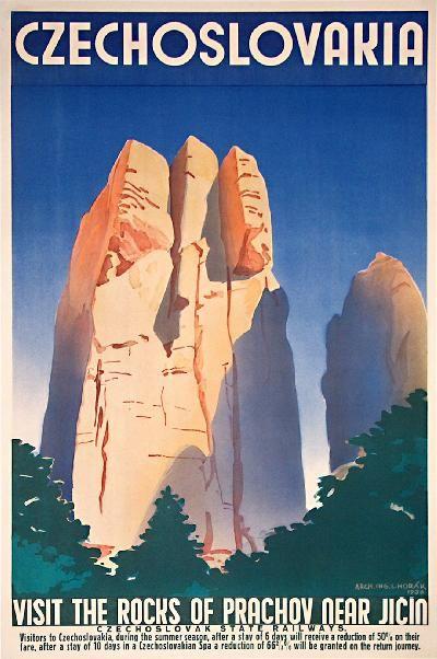 Tourism poster, Czechoslovakia