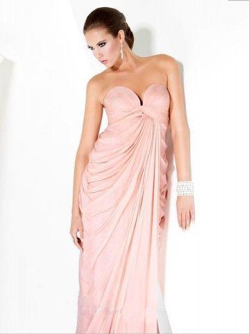Sheath / Column Sweetheart Ruffles Sleeveless Floor-length Chiffon Prom Dress