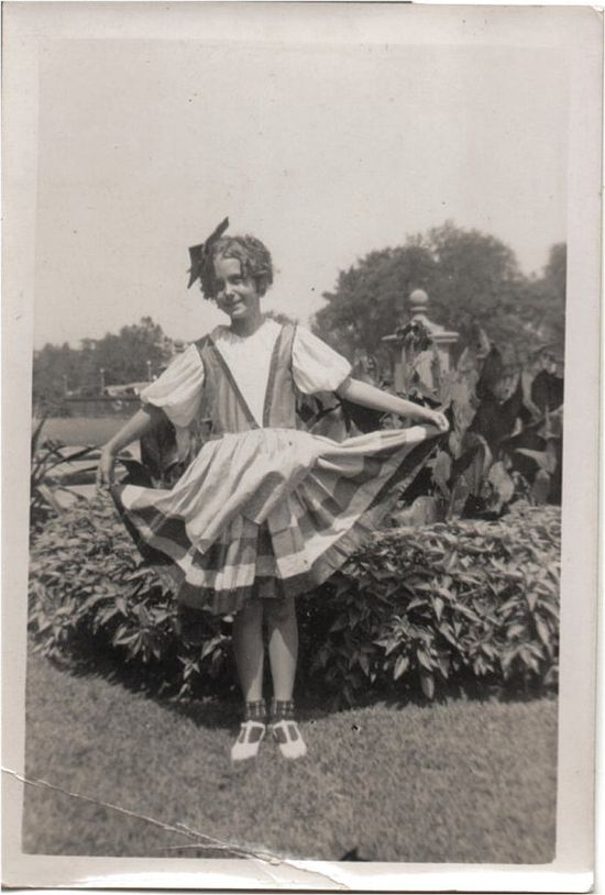 VINTAGE PHOTO  cute little girl showing off by vintagewarehouse, $2.50