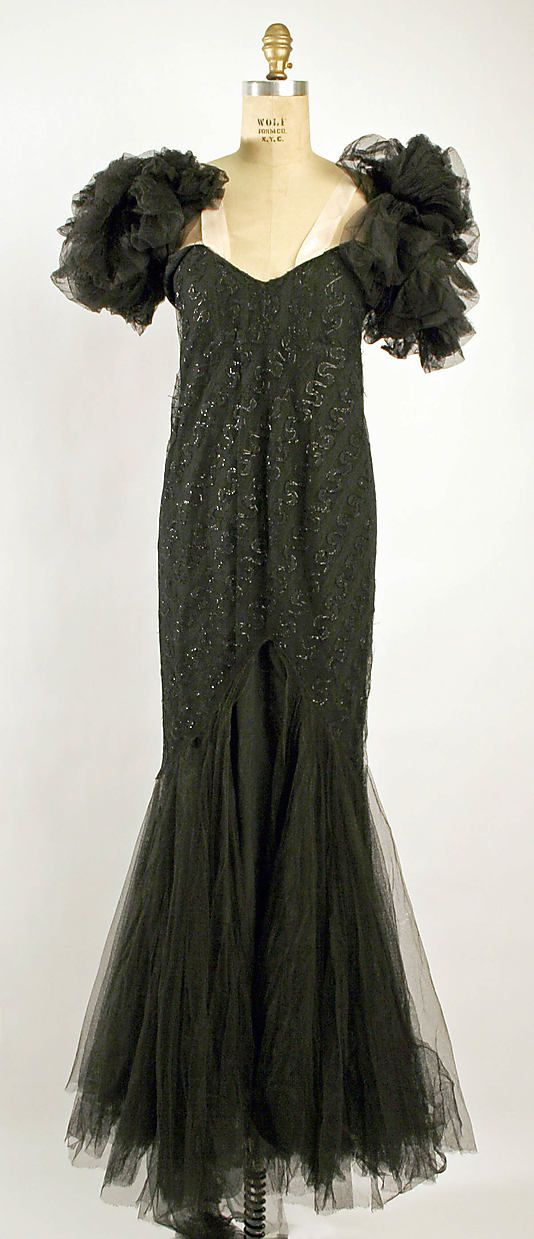 Evening dress, House of Chanel, ca. 1938, The Met