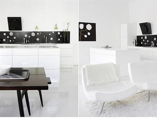 Minimalist Black and white interior design and decorating ideas