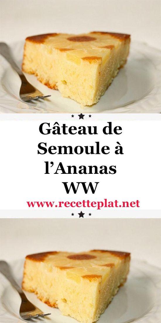 Voici la recette du gâteau de semoule à l'ananas WW, un savoureux gâteau léger à la semoule et à l'ananas, facile et rapide à réaliser chez vous.