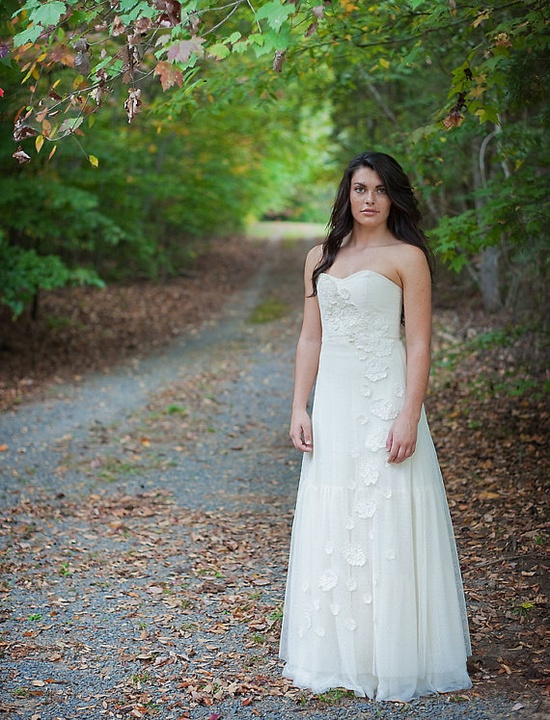 Roses and Lace Wedding Dress by andiemcguire on Etsy, $1200.00